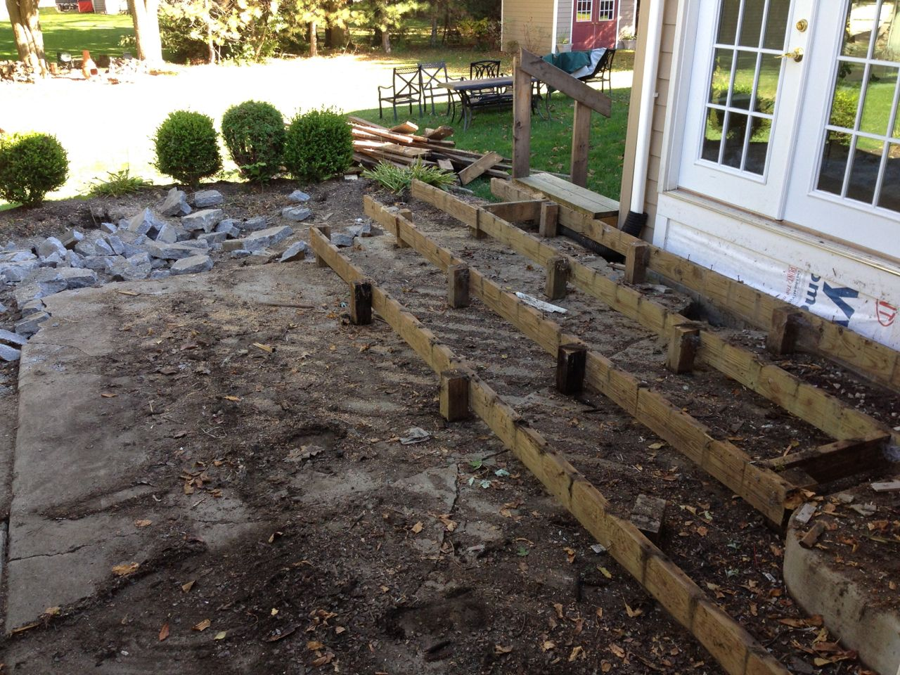 Remove Old Deck and Concrete Patio & Replace with Stamped Concrete ...