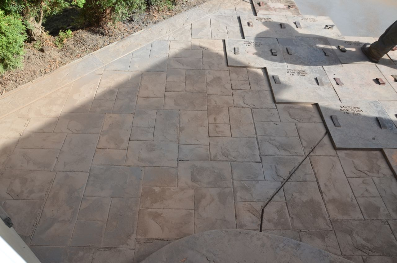 Remove Old Deck and Concrete Patio & Replace with Stamped Concrete Patio