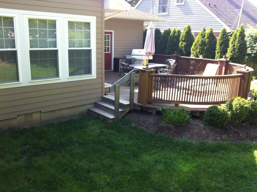 Remove Old Deck And Concrete Patio