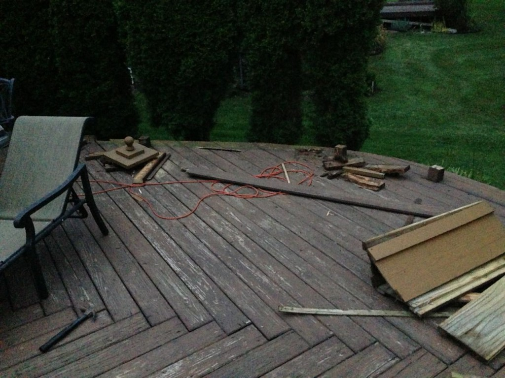 Remove Old Deck and Concrete Patio & Replace with Stamped