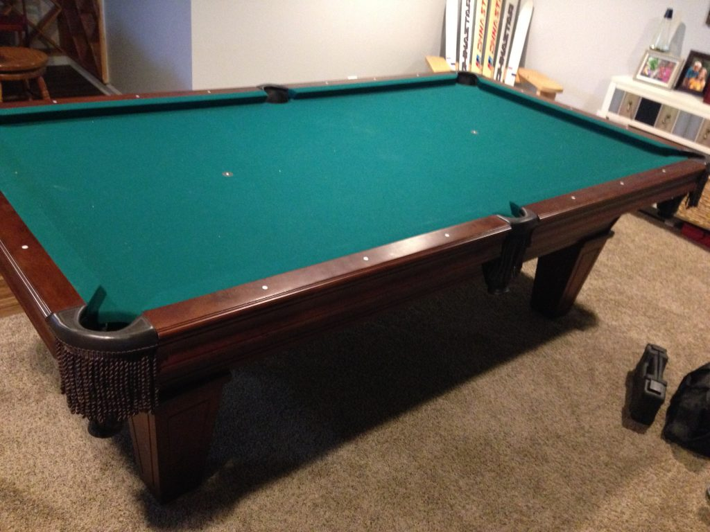 Moving And Refelting A Pool Table Step By Step Jon Pohlman - Pool table pocket shims