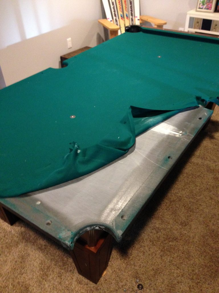 moving and re felting a pool table step by step jon pohlman rh jonpohlman com refelting a pool table with adhesive refelting a pool table cost