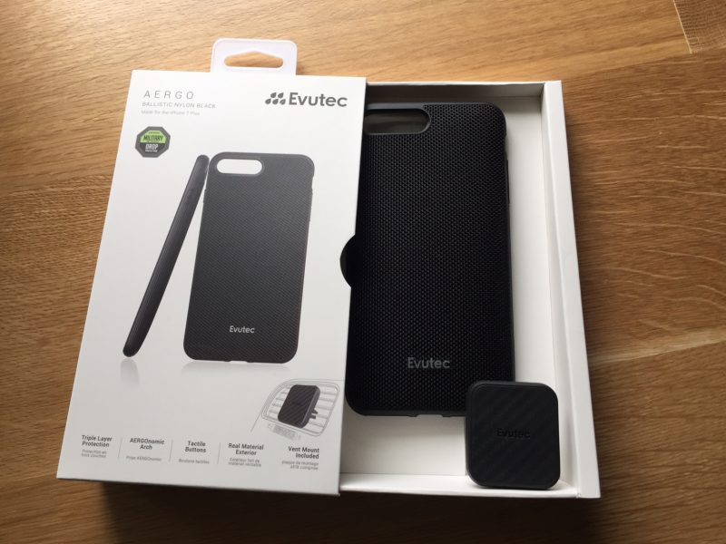 EVUTEC AER KARBON BLACK CASE W/ AFIX DASH MOUNT FOR IPHONE